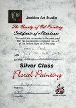 Jenkins Art Studio Floral Painting - Silver Class