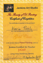 Jenkins Art Studio Floral Painting - Gold Class